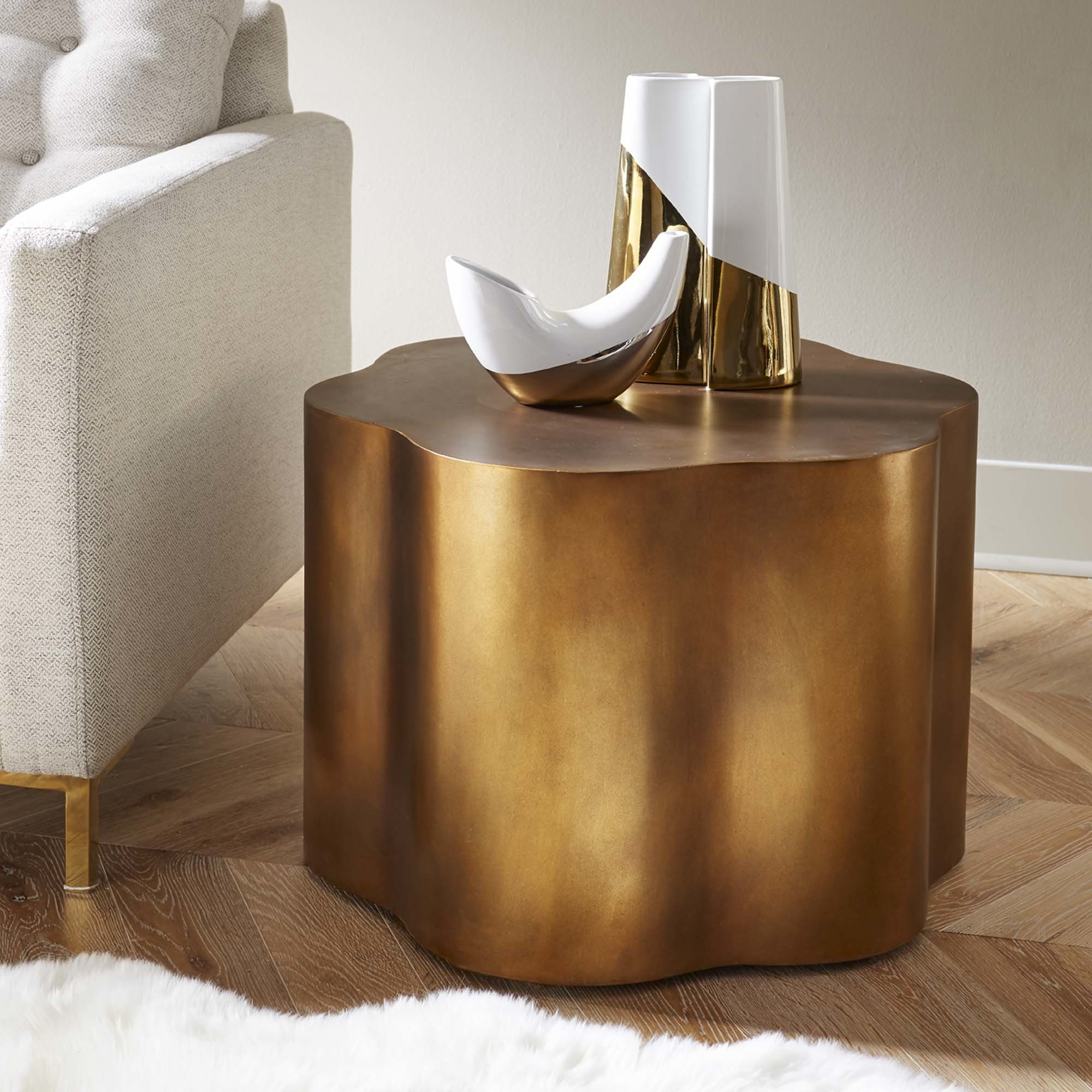 copper accent table loretto end tables edmonton console with doors elm side long skinny round tablecloth flooring large nightstands ultra modern lamps target storage bamboo oak