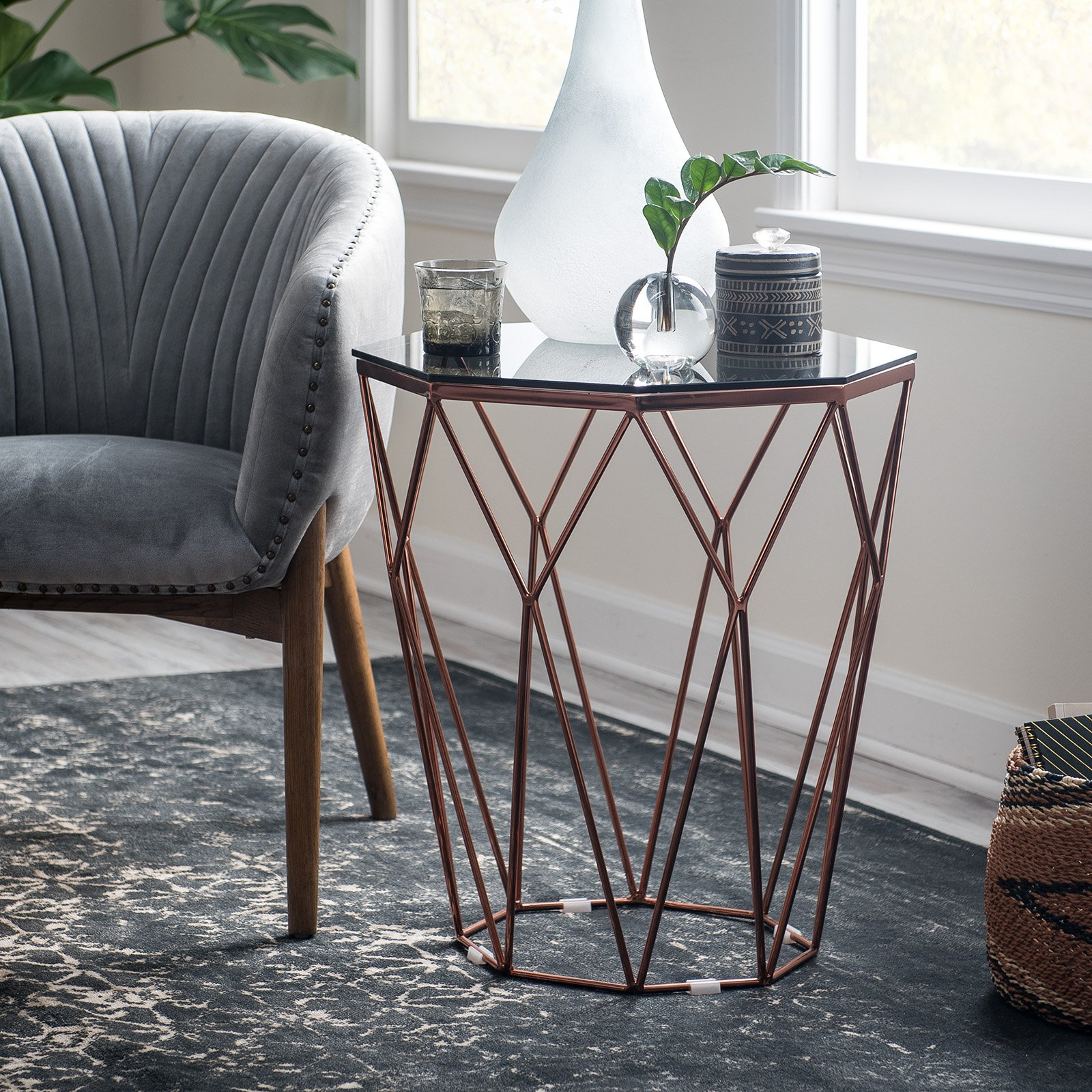 copper accent table metallic zhuxing black threshold product overview console with drawers ikea uttermost samuelle wooden coffee ethan allen maple summer clearance patio furniture