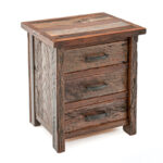copper canyon three drawer nightstand end table woodland creek accent percussion bell kit distressed red coffee round tablecloth barewood furniture multi coloured nest tables 150x150