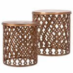 copper drum side table set zinc door living room design accent rustic farmhouse furniture west elm pillows grey wash wood coffee candle decorations small patio heavy duty umbrella 150x150
