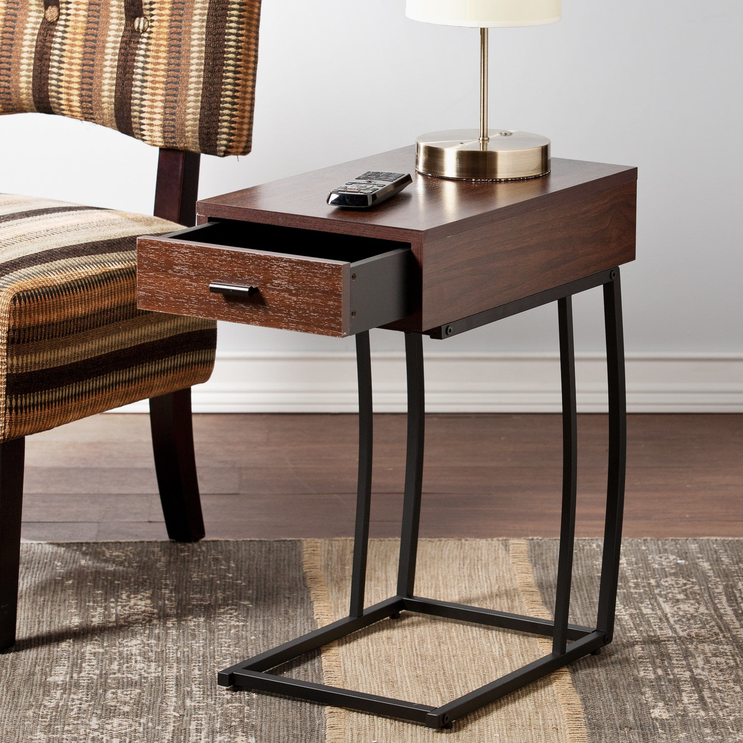 copper grove liatris side table power and usb clay alder home line accent with marble dining room vintage coffee plastic garden furniture hooker narrow cabinet wood end plans mid
