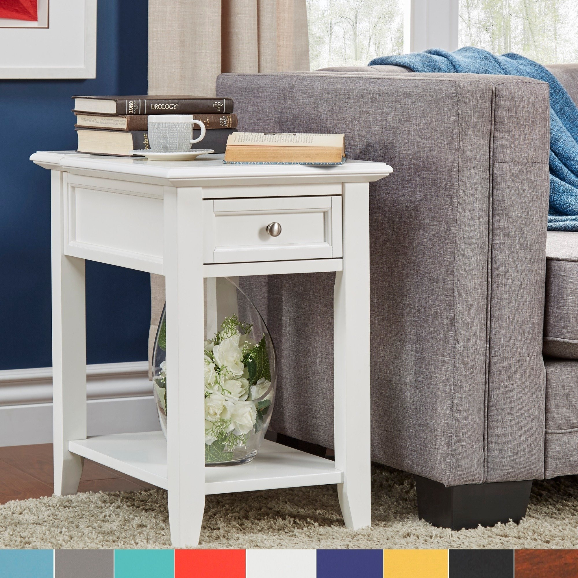 Modern Table Mats Accent Tables With Charging Station Modern