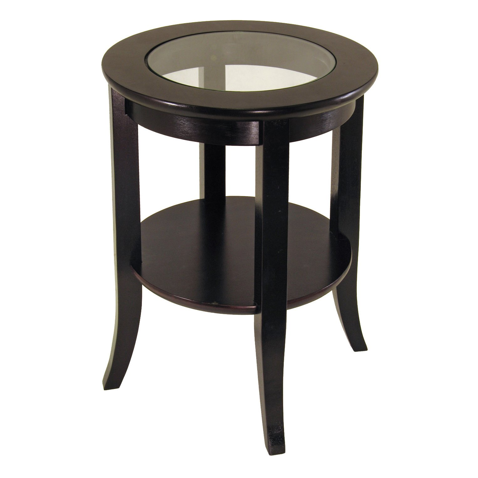 copper grove shasta trinity glass inset round end table with winsome genoa flared legs cassie accent free shipping today replacement couch hourglass antique nesting tables inlay