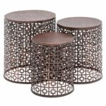 copper metal accent table squares set lamonte lane jackson patio candle decorations martin furniture computer desk battery bedroom lights trestle dining target wood end knotty 150x150