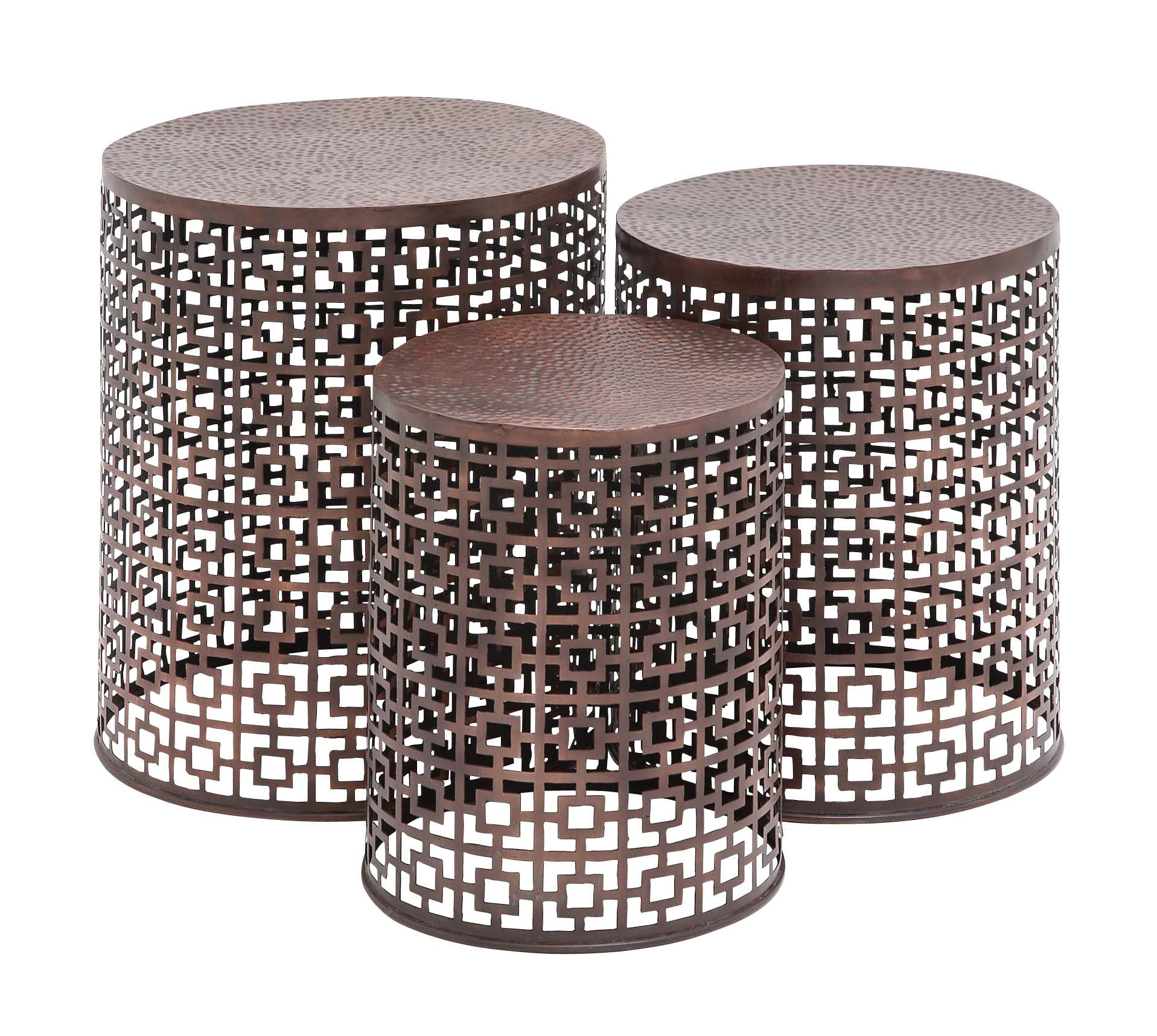 copper metal accent table squares set lamonte lane jackson patio candle decorations martin furniture computer desk battery bedroom lights trestle dining target wood end knotty