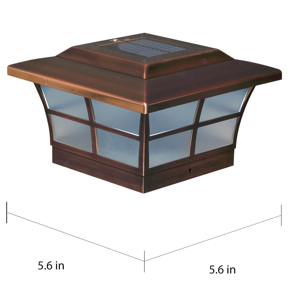 copper plated prestige solar post cap set free metal accent table shipping today round kitchen sets for corner ikea target glass white wicker furniture agate mid century dining