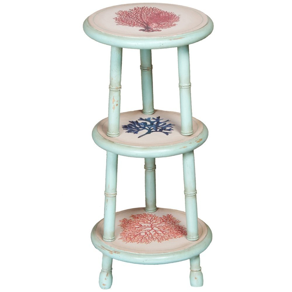 coral blue accent table tiered belle escape teal white curtains target round rattan side american drew furniture tall with stools diy patio umbrella stand console shelves and