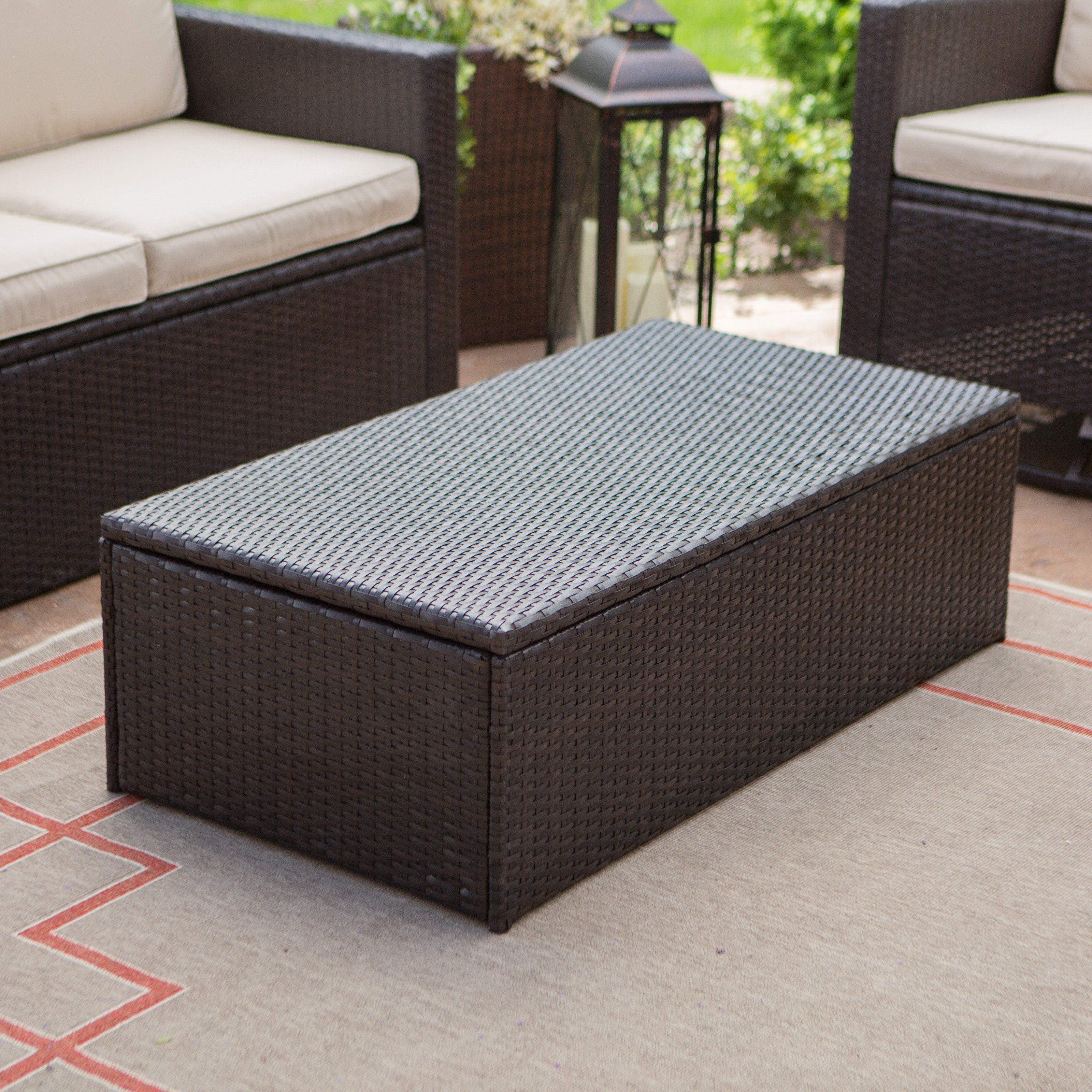coral coast berea outdoor wicker storage coffee table deck side from end tables with drawers wooden patio chairs luxury furniture floor transitions for uneven floors accent small