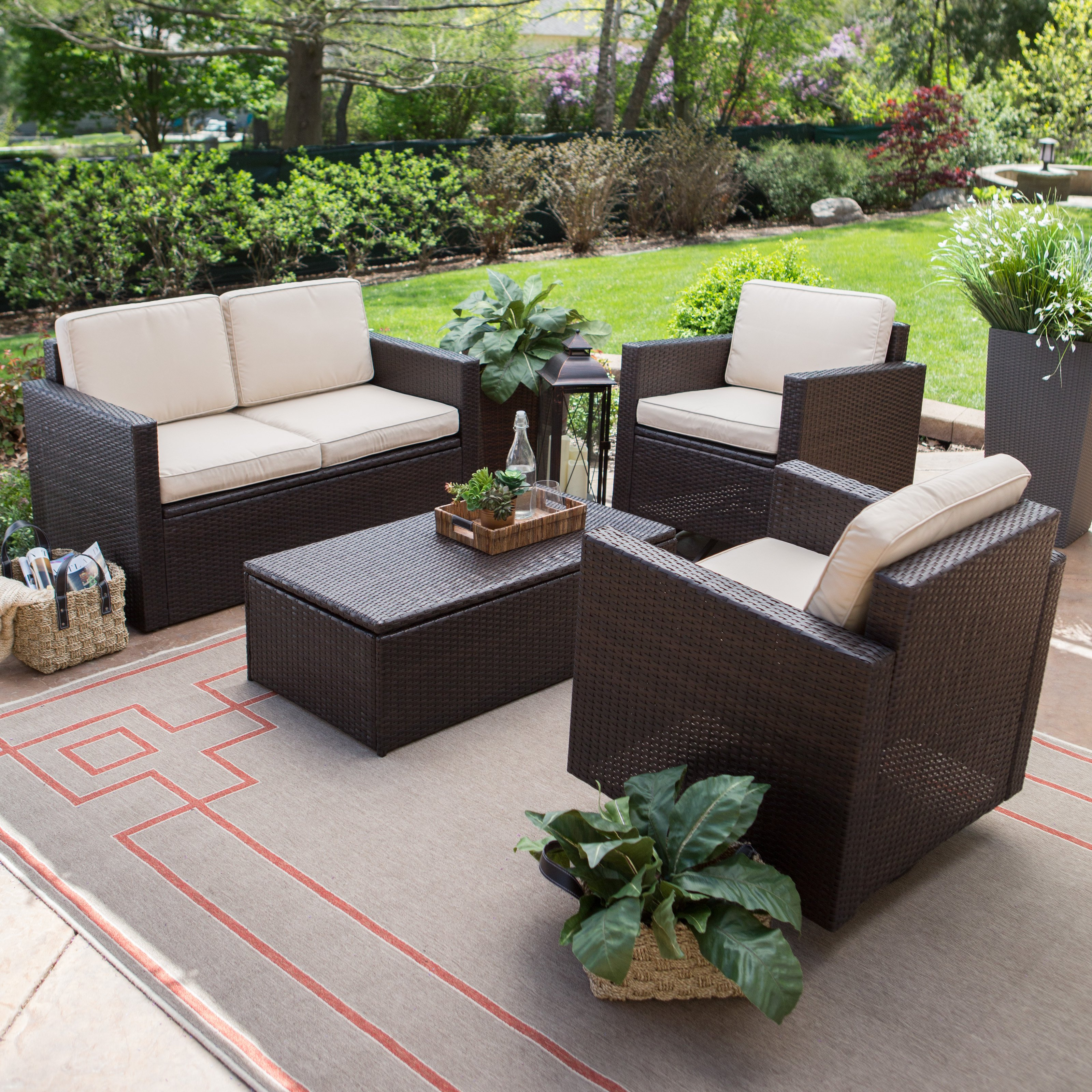 coral coast berea wicker piece conversation set with storage master accent patio table collapsible trestle under couch rustic corner black and white modern coffee extra tall