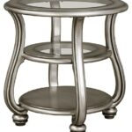 coralayne silver finish round end table tables accent click expand black patio coffee garden furniture small marine style light fixtures square white big chair desk with drawers 150x150