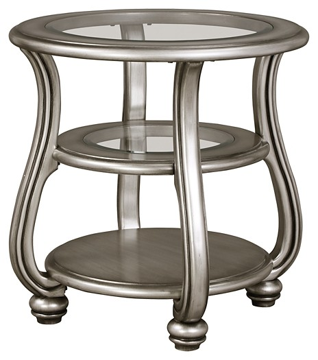 coralayne silver finish round end table tables accent click expand black patio coffee garden furniture small marine style light fixtures square white big chair desk with drawers