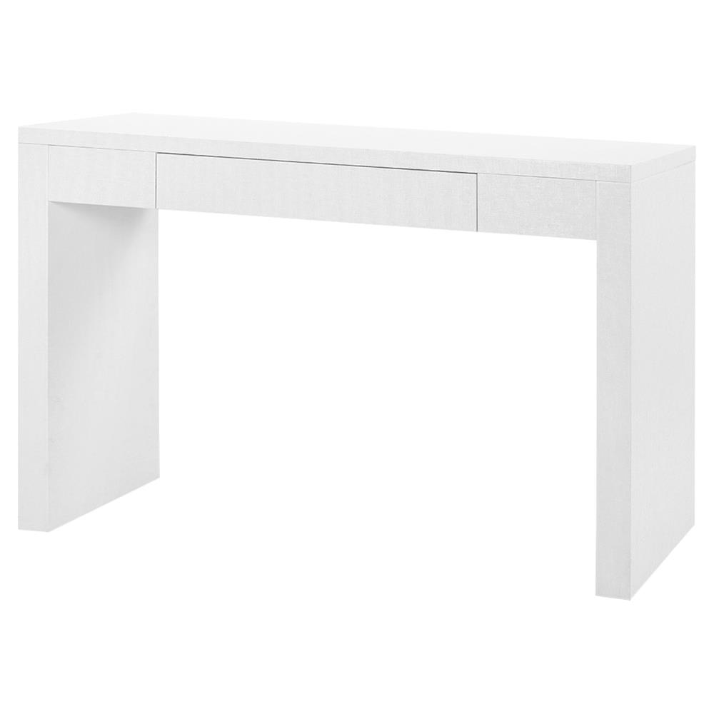 coralee coastal white lacquer grass cloth console table kathy kuo home product accent retro bedroom furniture bath and beyond floor lamps kitchenette navy tablecloth extra wide