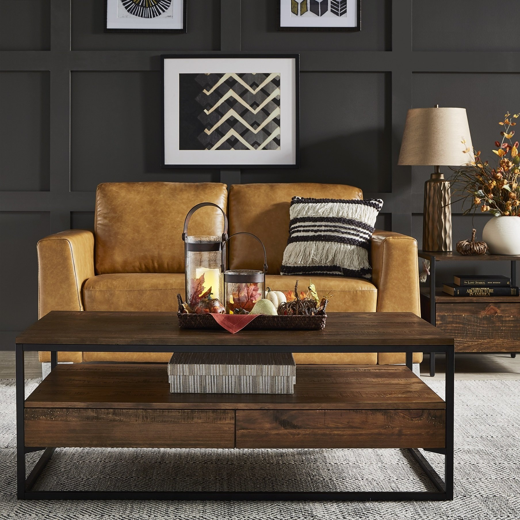 corey rustic brown accent tables inspire modern table behind couch inch nightstand pier locations nautical mini pendant lights gray round end with drawers target kindle fire