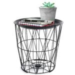 cork coffee table probably outrageous free black side with geometric iron metal wire round tray top storage basket etched glass panels diy butcher block mini nightstand leather 150x150