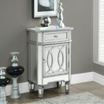 corner cabinet door lock painted silver color room ideas end drawers coffee storage bedroom mirror wood console cube small mirrored accent table drawer with fullsize glass legs 150x150
