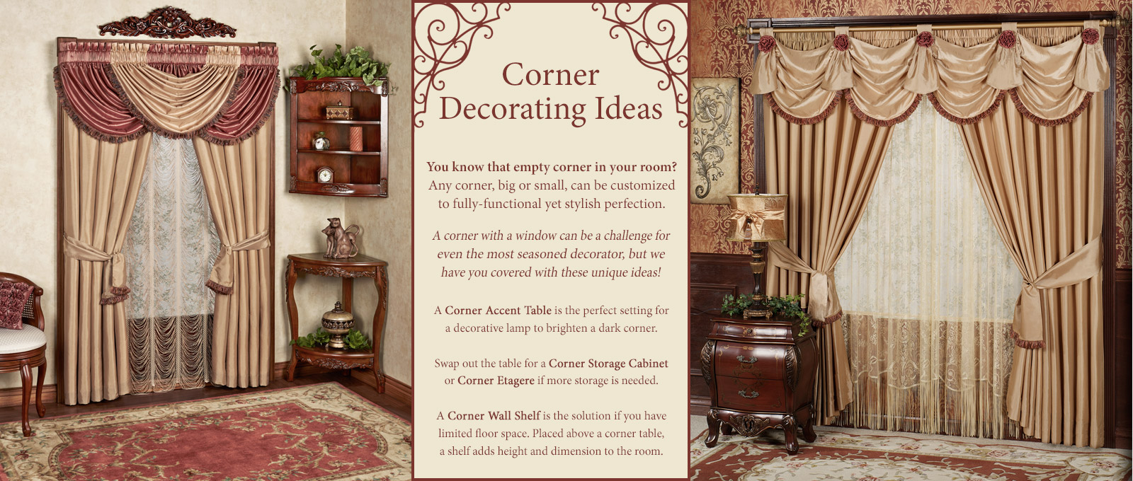 corner decorating ideas touch class small accent table more accents room decor lamp globes umbrella base with wheels foyer storage upholstered chair entryway white metal garden
