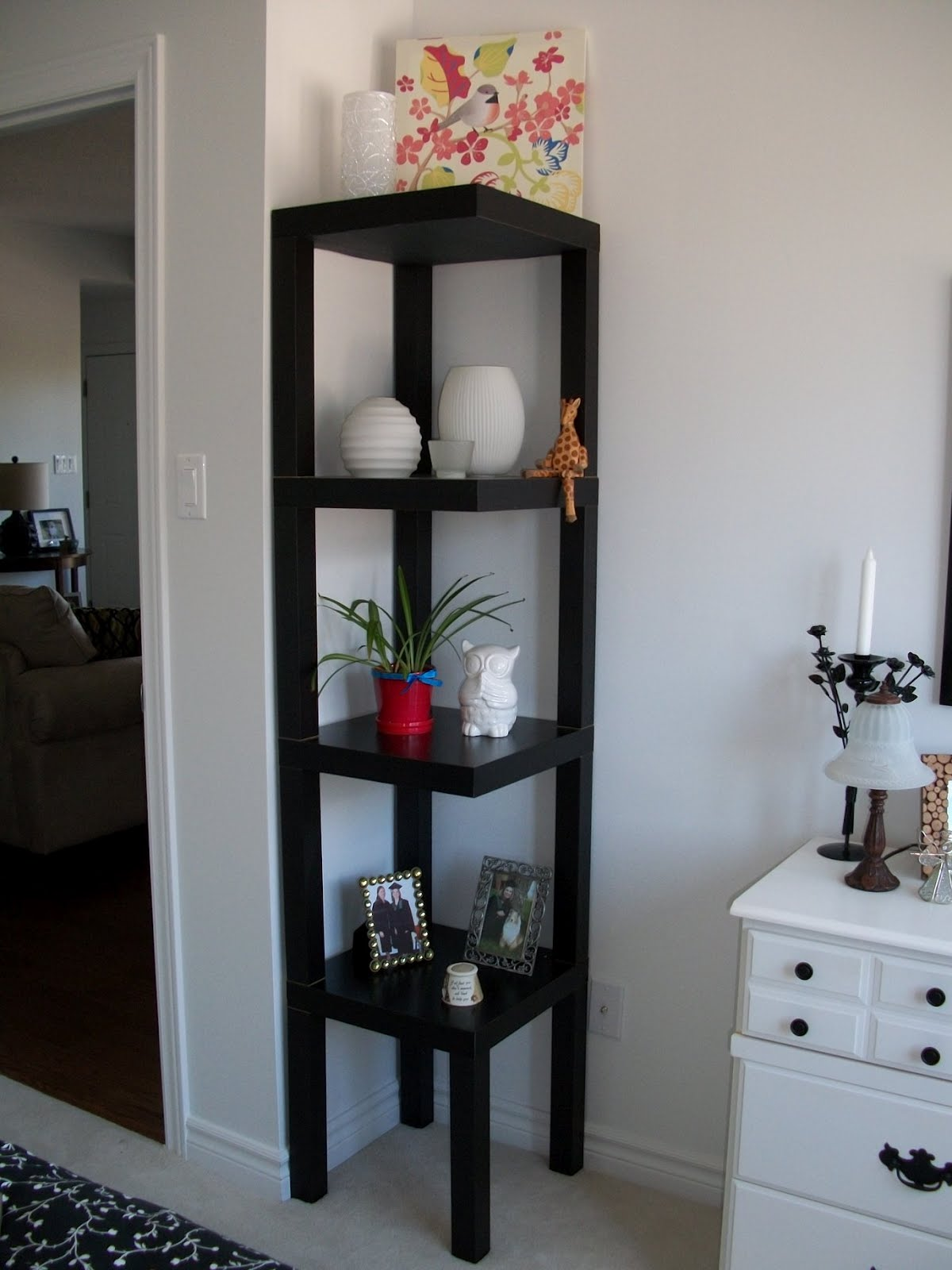 corner decoration furniture amazing captivating design curio incredible black shelf decorating corners and floating contents near for accent table ikea cabinet home with