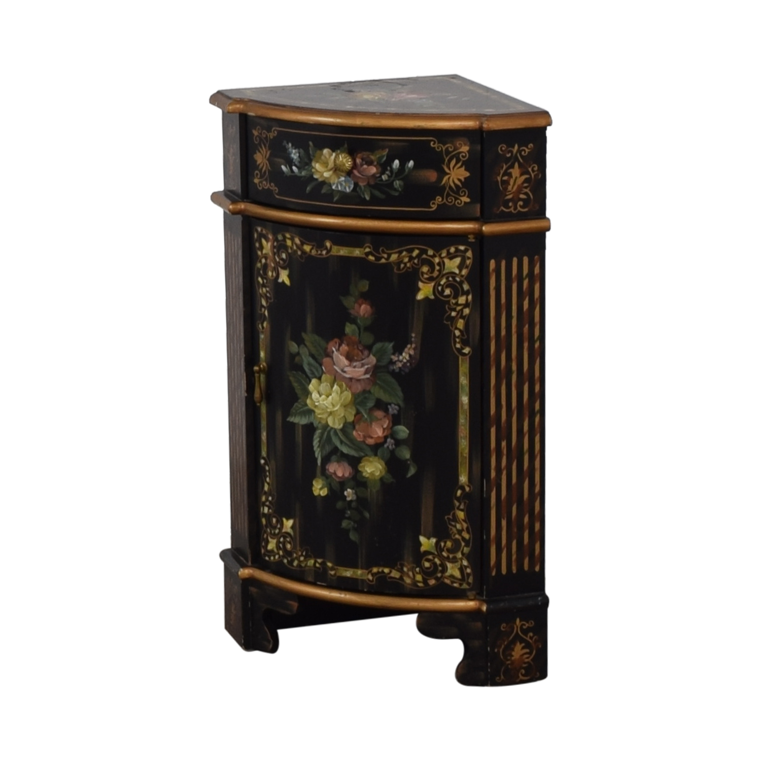 corner end tables for laeti and side small antique black hand painted single drawer cabinet accent table hon handpainted nyc off baby relax glider solid wood coffee used ethan