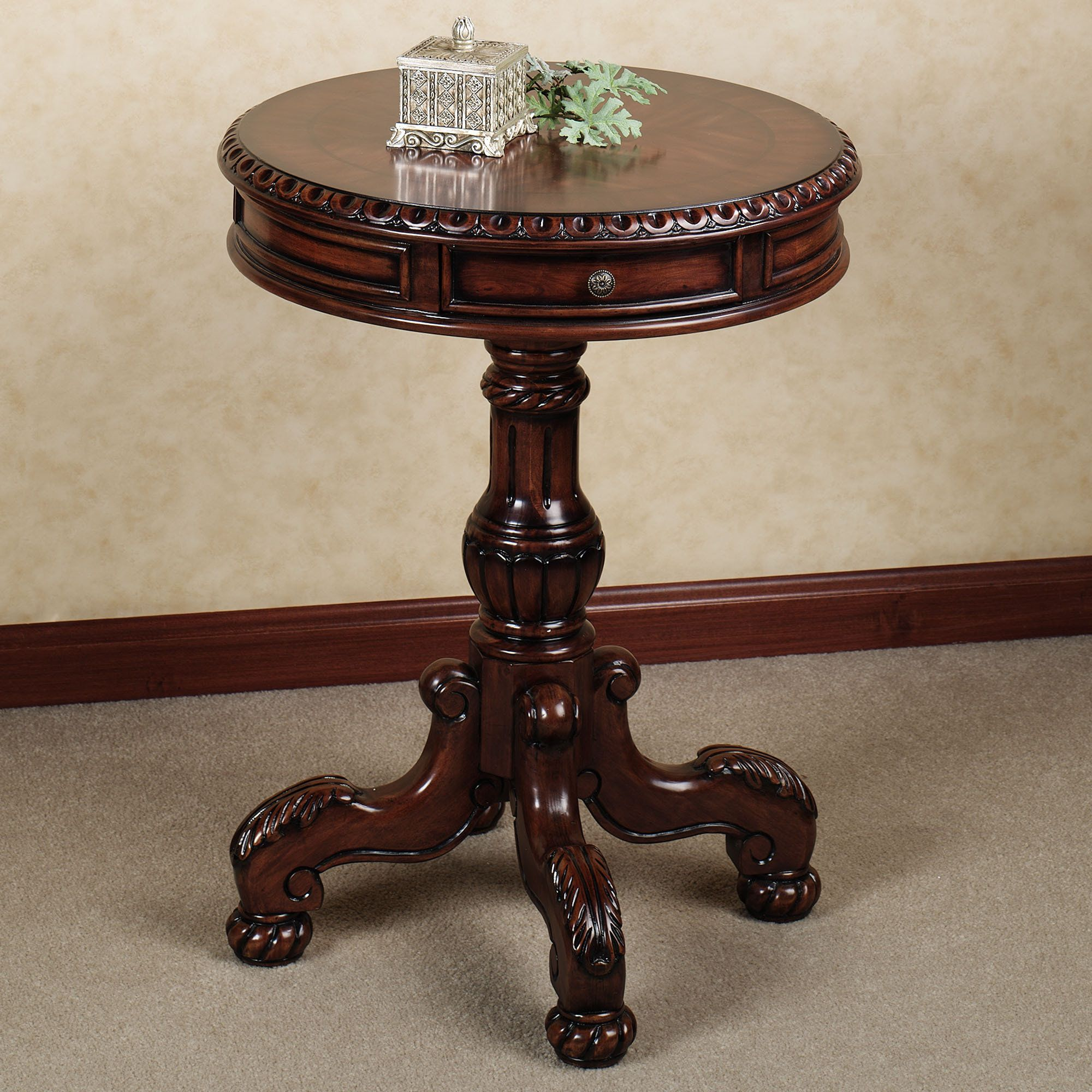 cortona round pedestal table beautiful home furnishings and accent red chest garage threshold small patio end free coffee long skinny sofa swing cover theater room furniture metal