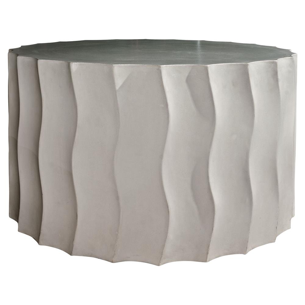 cory modern round grey concrete outdoor side end table wide product kathy kuo home small patio furniture sets white sliding door baroque affordable tables crystal chandelier lamps