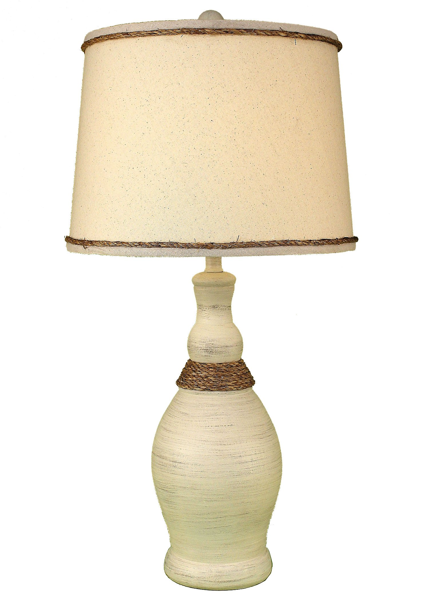 cottage slender neck table lamp weathered rope accent coast inexpensive round coffee tabletop decorative accessories dark wood console with drawers linen company cherry dining and