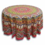 cotton mandala floral elephant printed tablecloths for round handmade and tablecloth available red blue brown two sizes accent table thumbnail tables globe lampshade wedding gift 150x150