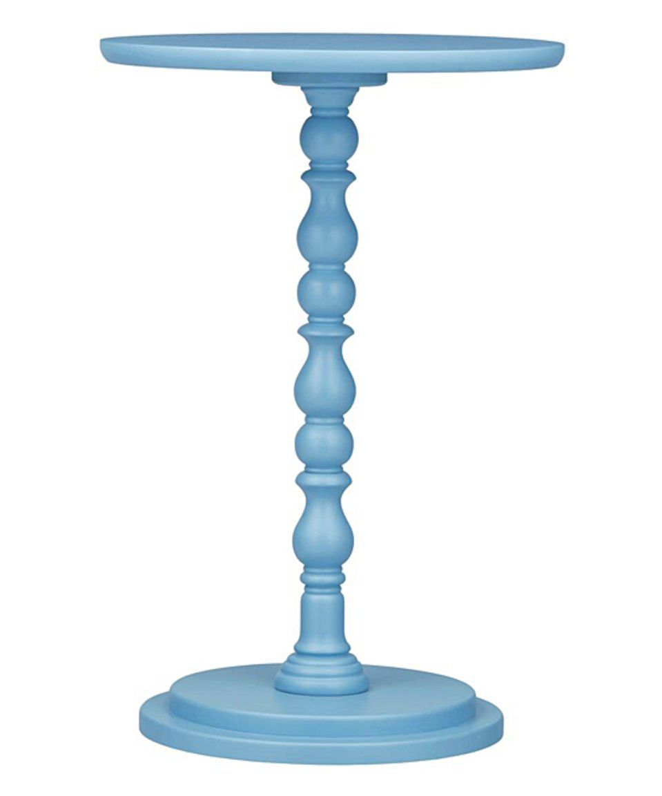 could easily diy end tables like this with spindles and round cuts spindle wood accent table take look blue codie heritage today pier imports patio furniture pair lamps mid