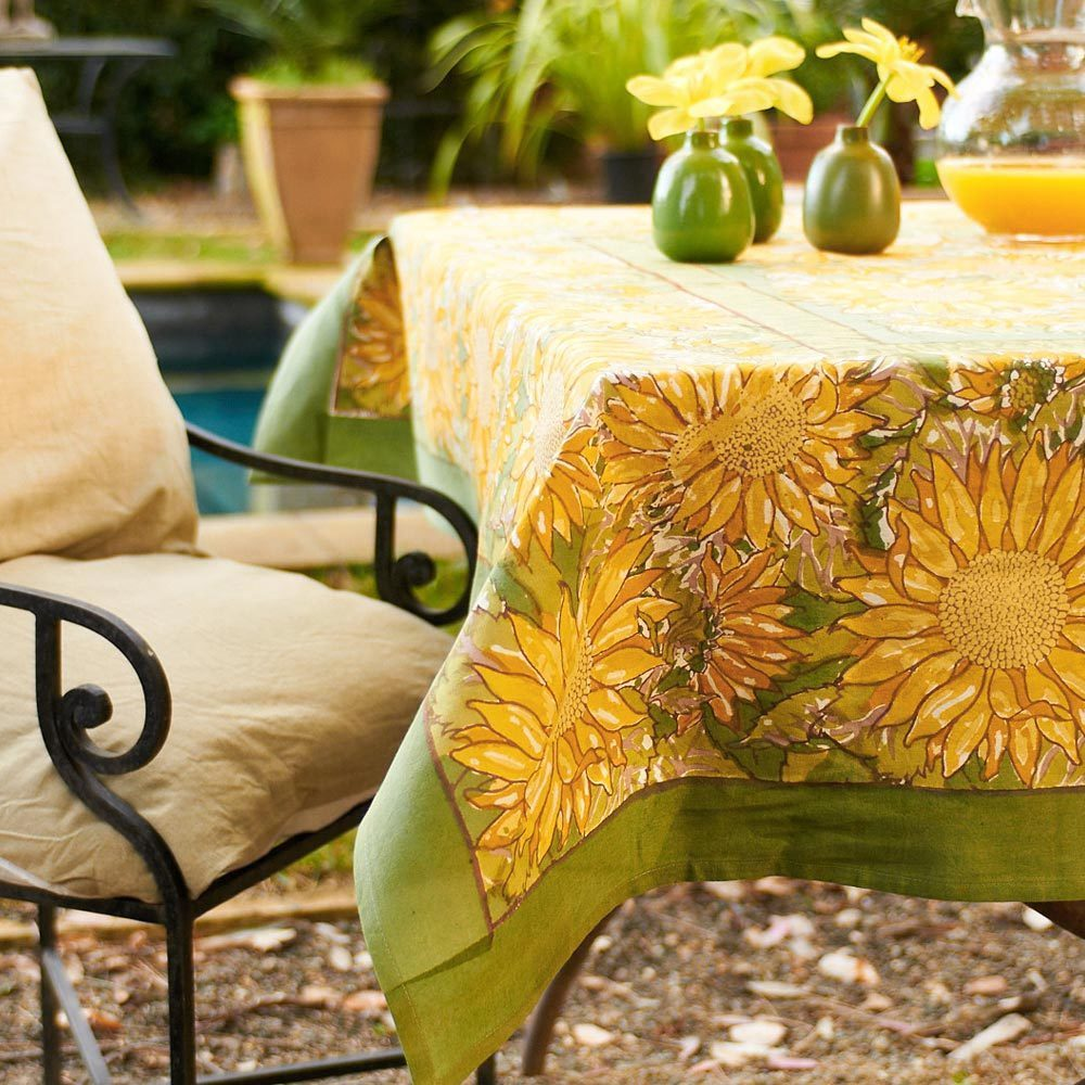 couleur nature sunflower inch round tablecloth free accent shipping today junior drum stool hutch clearance lawn furniture glass lamp shades market patio umbrella battery standard