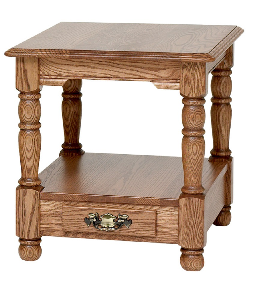 country trend solid oak end table with drawer slim accent tables led battery lamp console storage metal glass top unusual coffee ideas white trestle pub bar height leick laurent