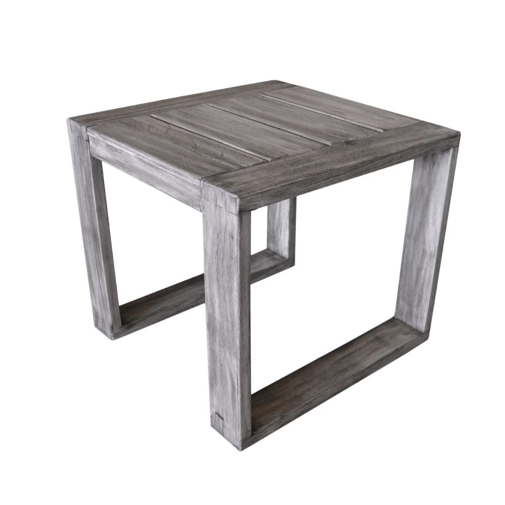 courtyard casual north shore collection teak outdoor side table tables dining room legs wood furniture moving pads crystal lamps for living ikea white coffee patio set extra large