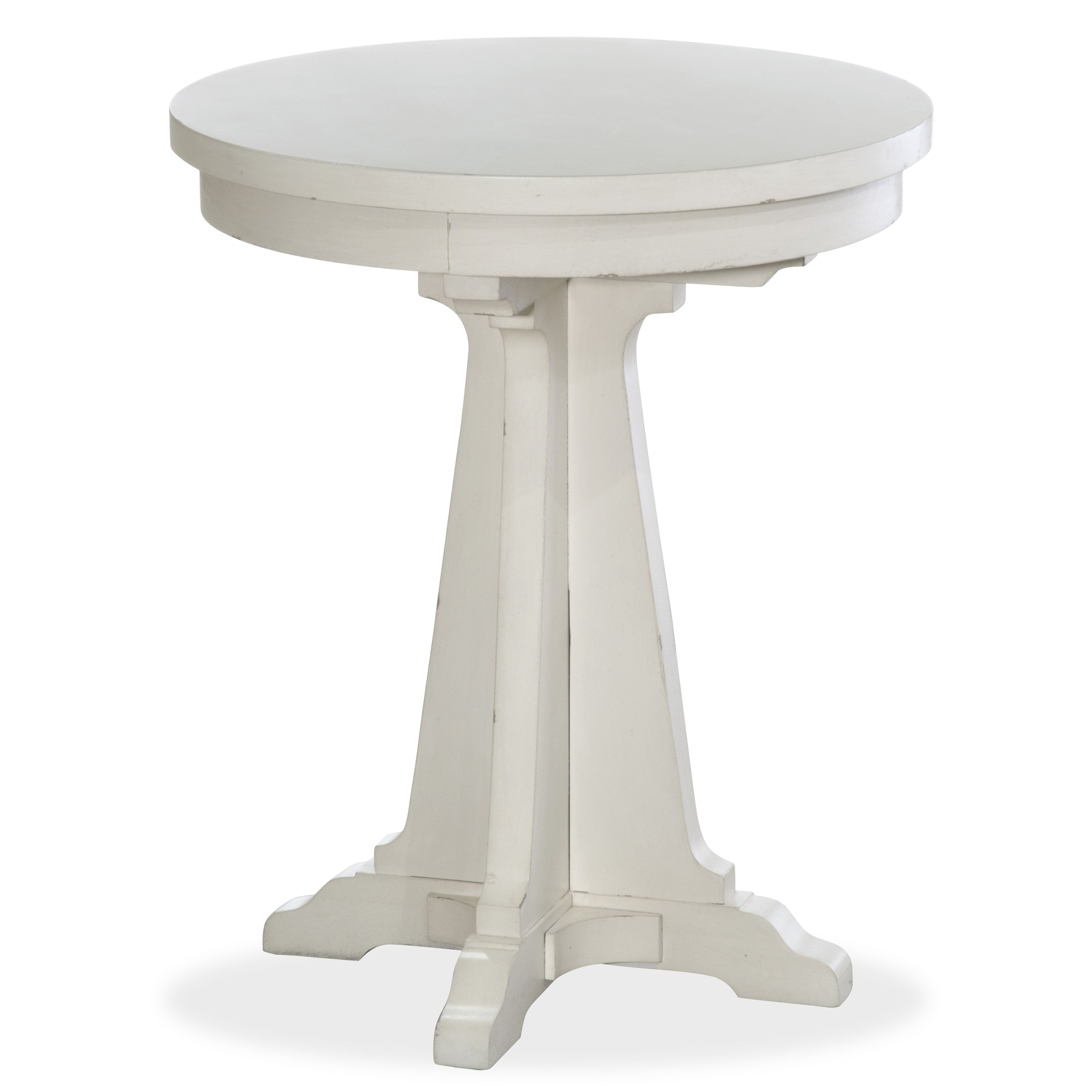 coventry lane farmhouse antique white round accent table free pedestal shipping today coffee small patio end swing cover throne for drums cushions floor cabinet butcher block