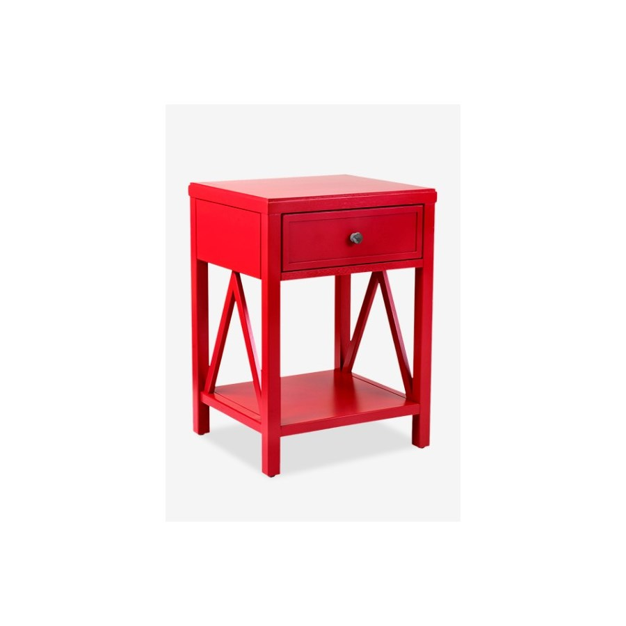 crafted home auburn traditional one drawer wooden accent side table red elastic covers small contemporary end tables bedroom design porcelain lamp floor threshold transitions