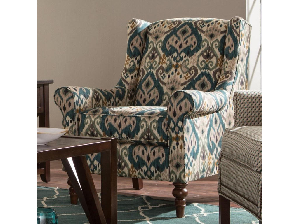 craftmaster accent chairs wing back chair with traditional turned products color whitfield leg table threshold legs cordless bedside lights kohls gift registry wedding metal plant
