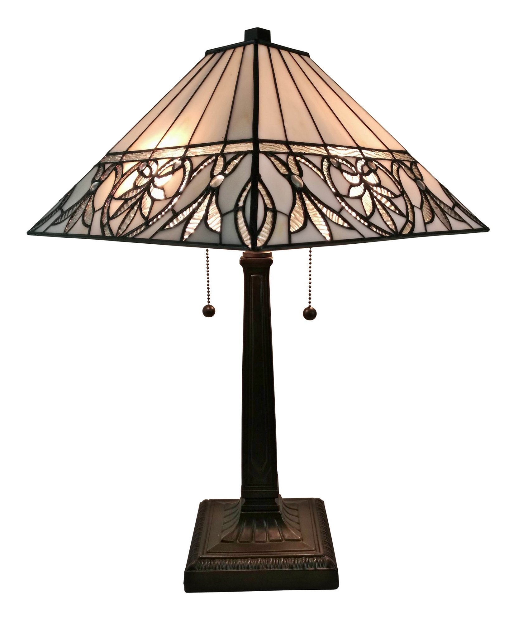 craftsman style lamps tiffany table lamp nautical accent quickview west elm light fixtures dale dragonfly room essentials marble tulip side console desk restoration hardware