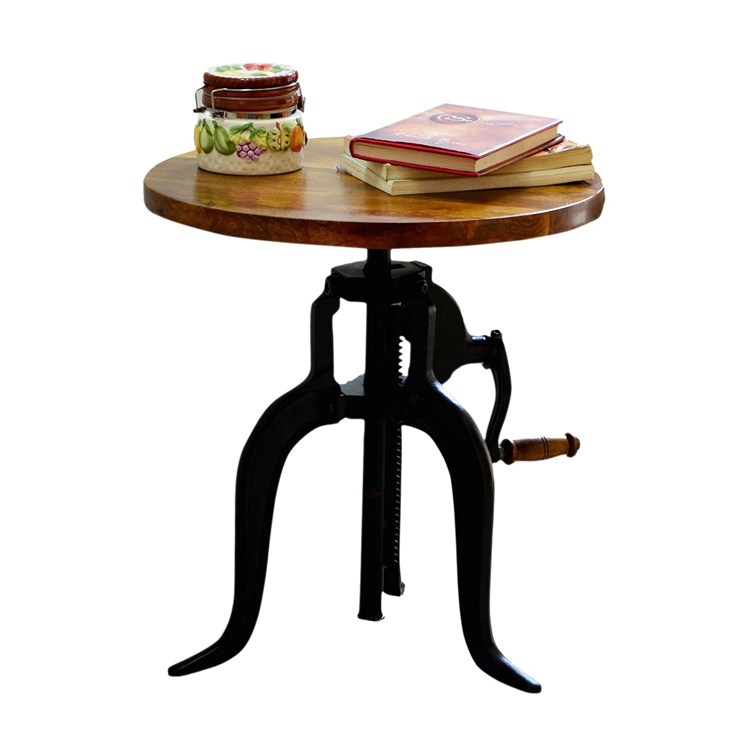 crank table base find line accent get quotations carolina chair and brook adjustable chestnut black low coffee ikea storage bins plastic tablecloth coloring cast aluminium garden