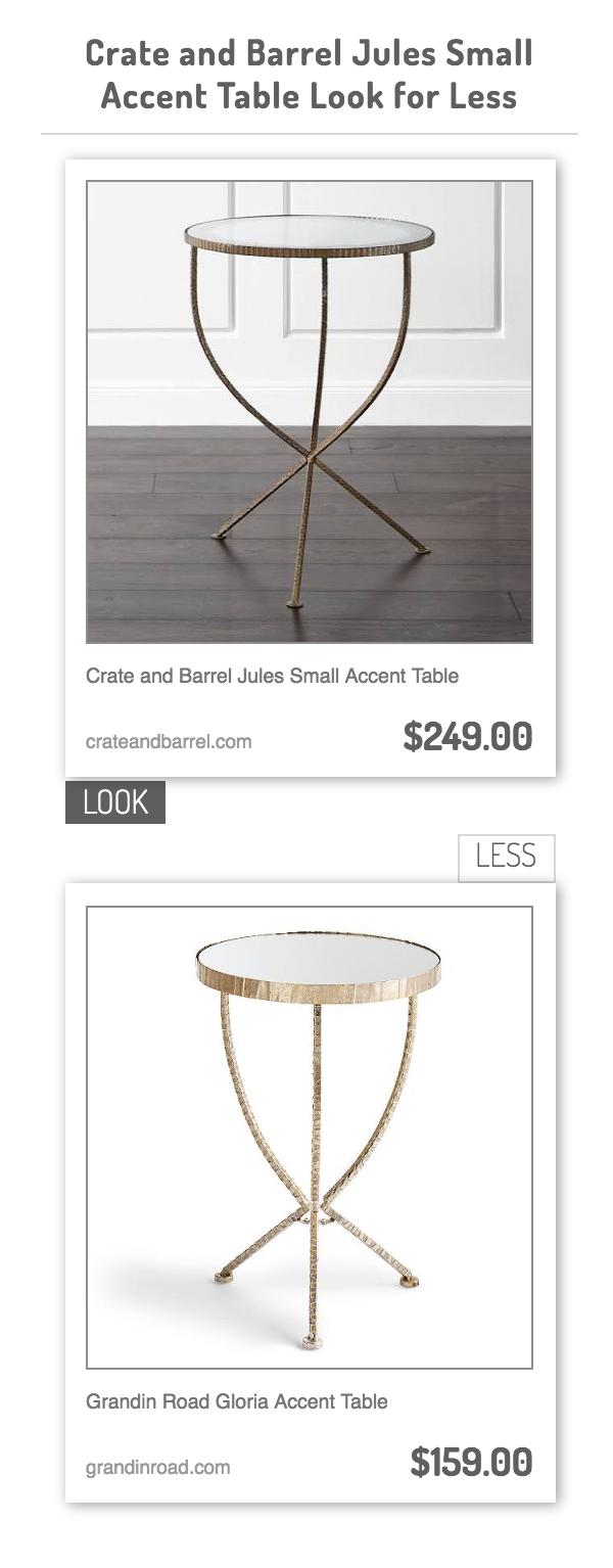 crate and barrel jules small accent table grandin road gloria low outdoor target industrial furniture unfinished wood farm style sofa pottery barn kids desk gallerie credit card