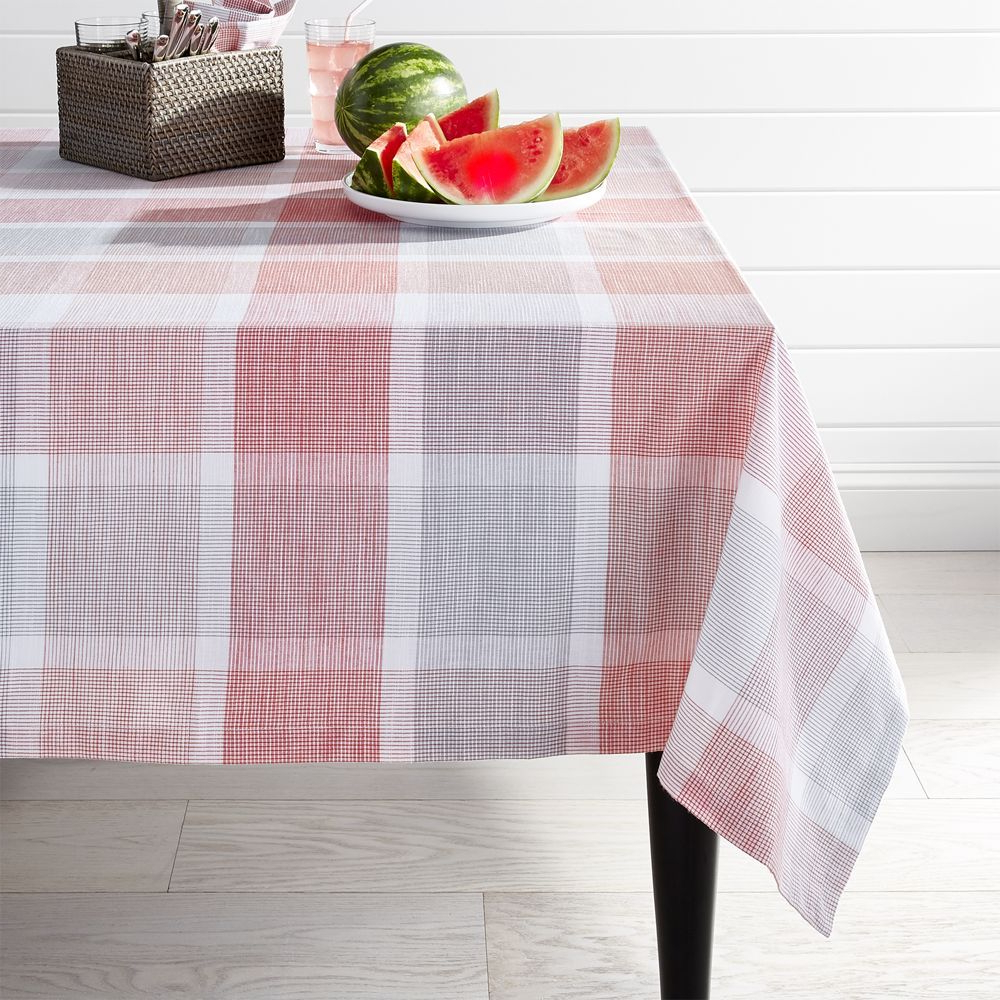 crate and barrel outdoor tablecloth sorbet plaid products accent table linens console behind couch grey patio furniture shabby chic coffee pier one kitchen chairs decoration ideas