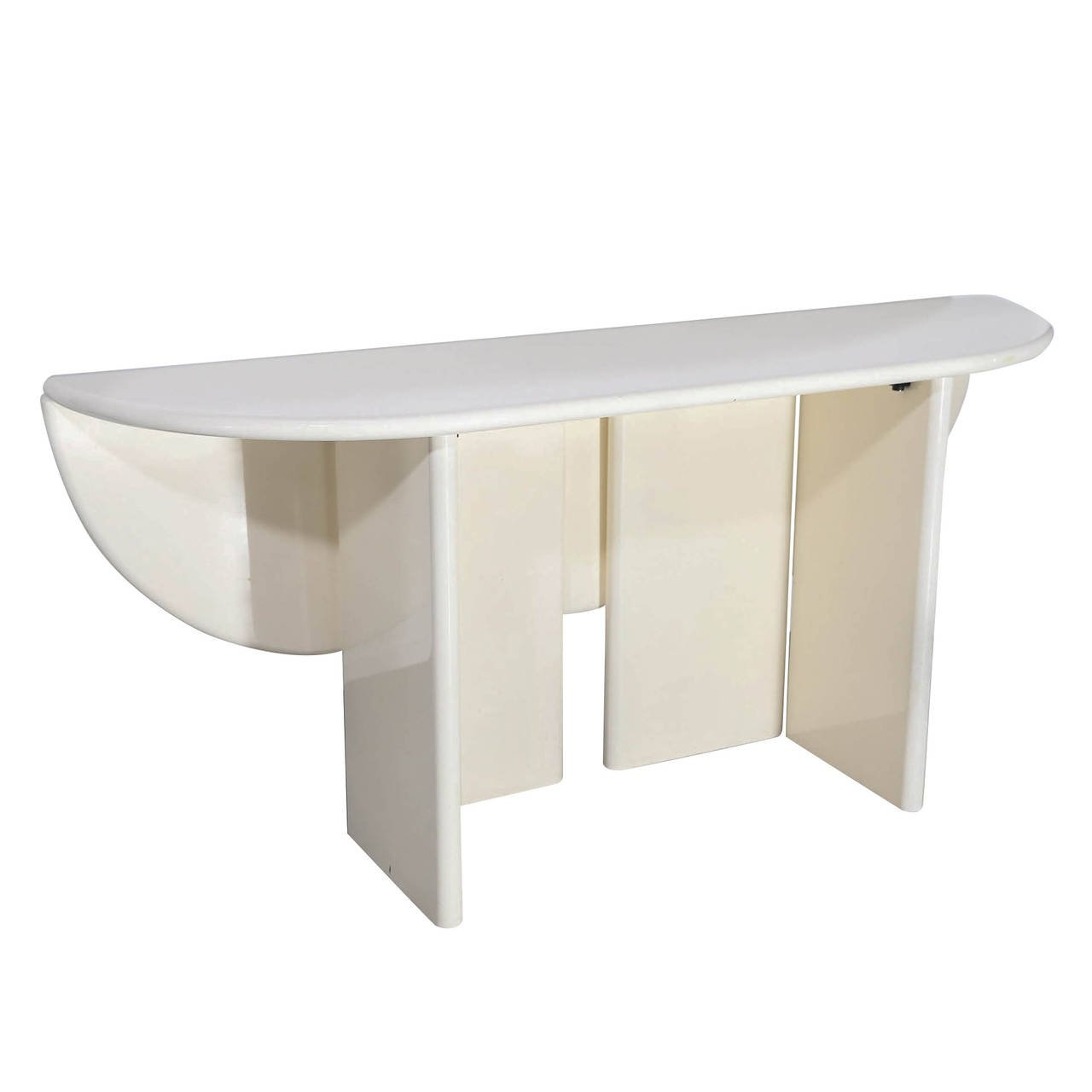 creamy white lacquered drop leaf console table the style main lacquer accent takahama for set round coffee tables keter pacific cool bar brass cocktail with glass top extra wide