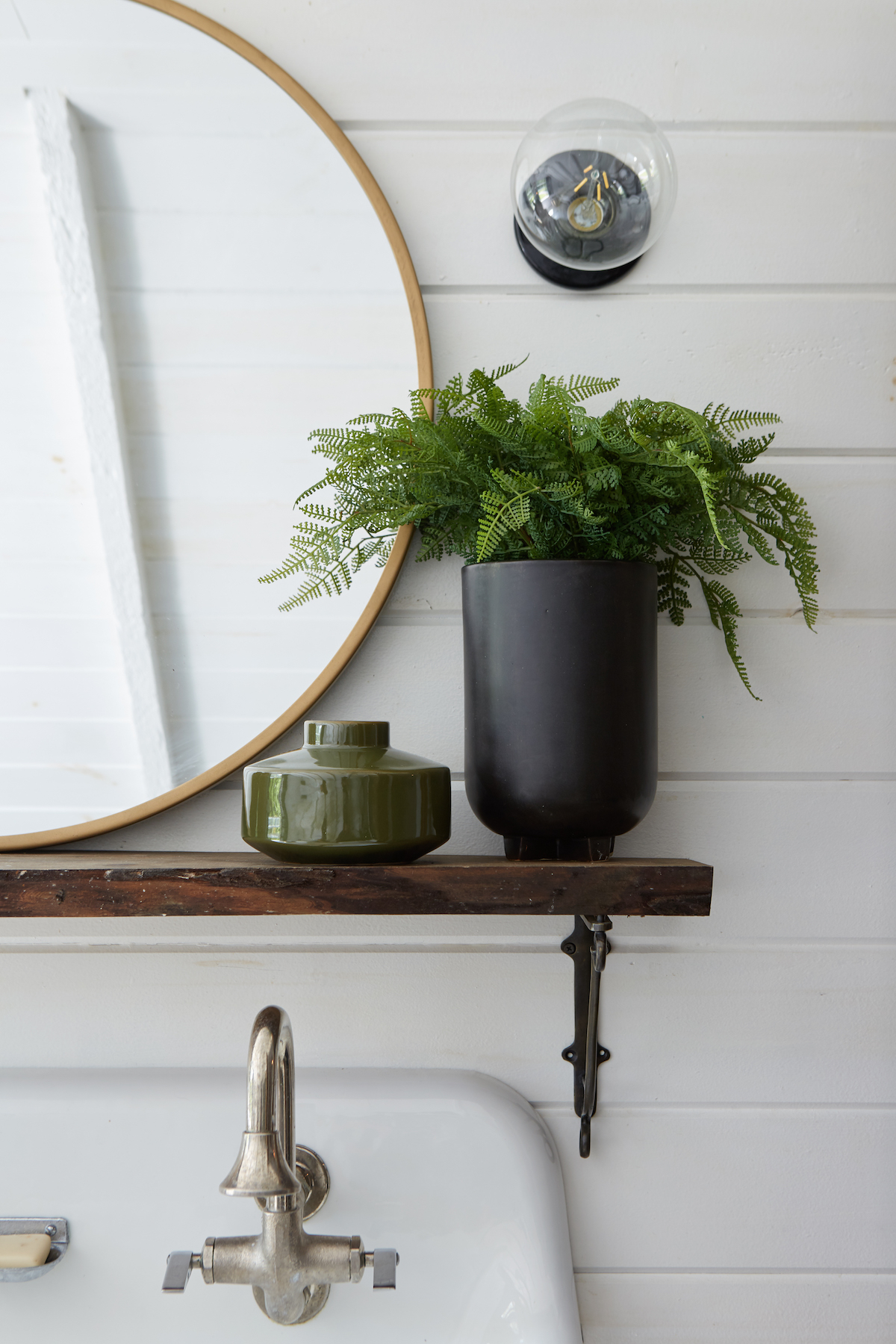 creating personal oasis how escape without actually escaping leanne target manila cylinder drum accent table brass round decorative wall mirror olive green vase fern black pot