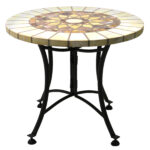 creative outdoor accent table with hampton bay mill valley beautiful honeycomb marble mosaic end metal base patio tables sofa drink crochet runner square wood target pier dishes 150x150