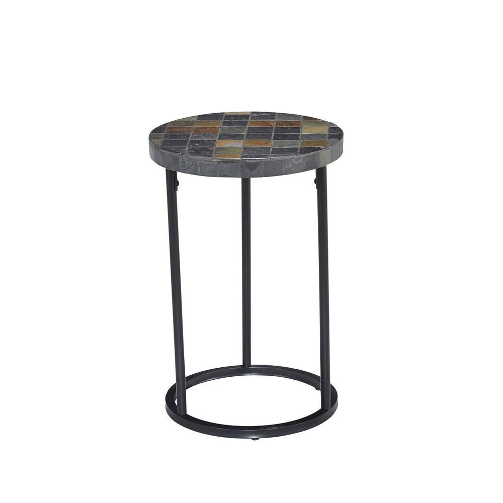 creative outdoor accent table with hampton bay mill valley square patio metal tables crochet runner target leather chair round side coffee pieces for dining room pier dishes