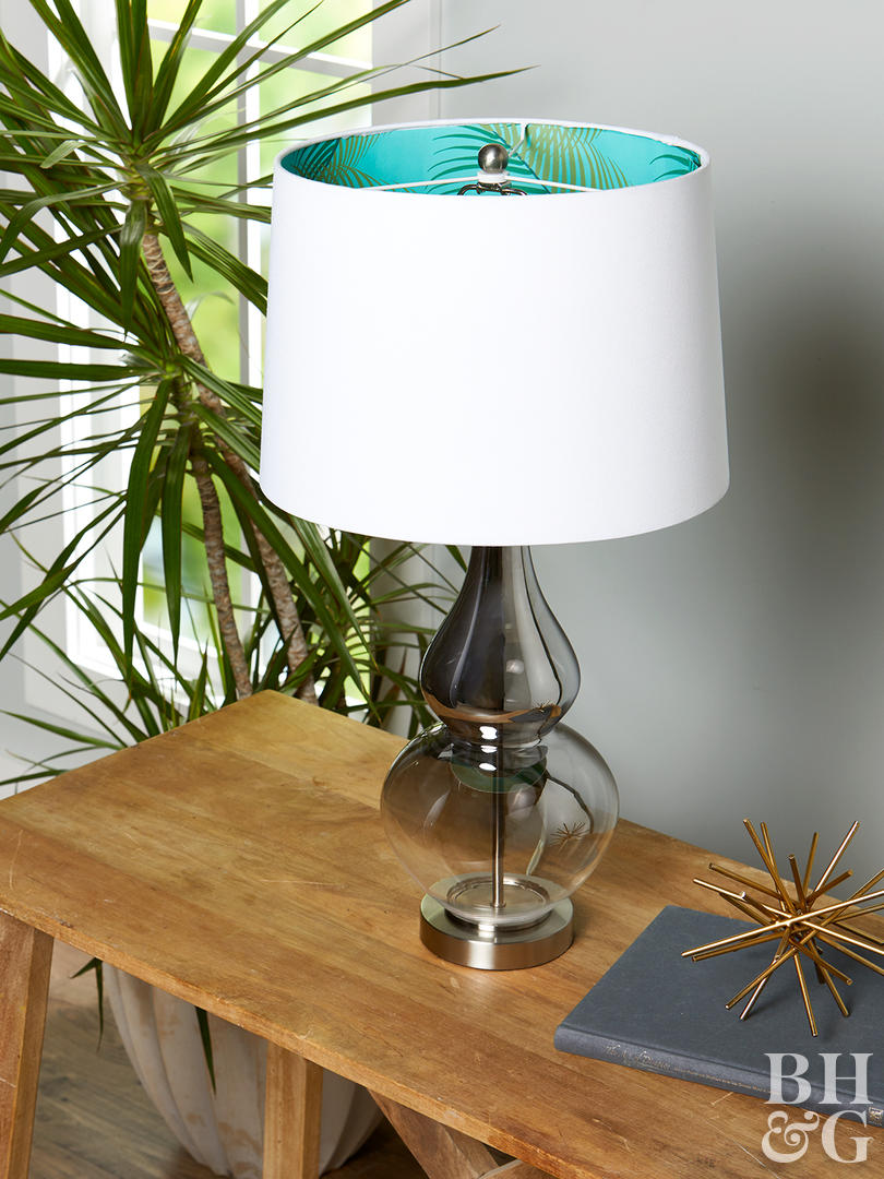 creative ways reinvent lampshade better homes gardens white inner wallpaper project wood accent table five below with wrapped around inside ashley furniture sectional sofas green