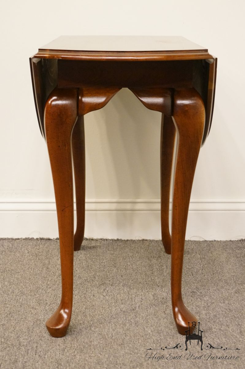 cresent furniture solid cherry traditional drop leaf end accent table round counter height dining behind sofa tables under modern clock twisted wood side teal ikea living room