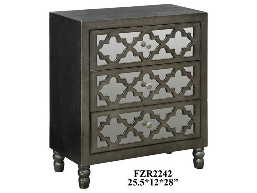crestview collection accent furniture avery mirrored drawer silver products color glass top table furnitureavery leaf chest french beds kitchen and chairs vanity chair target
