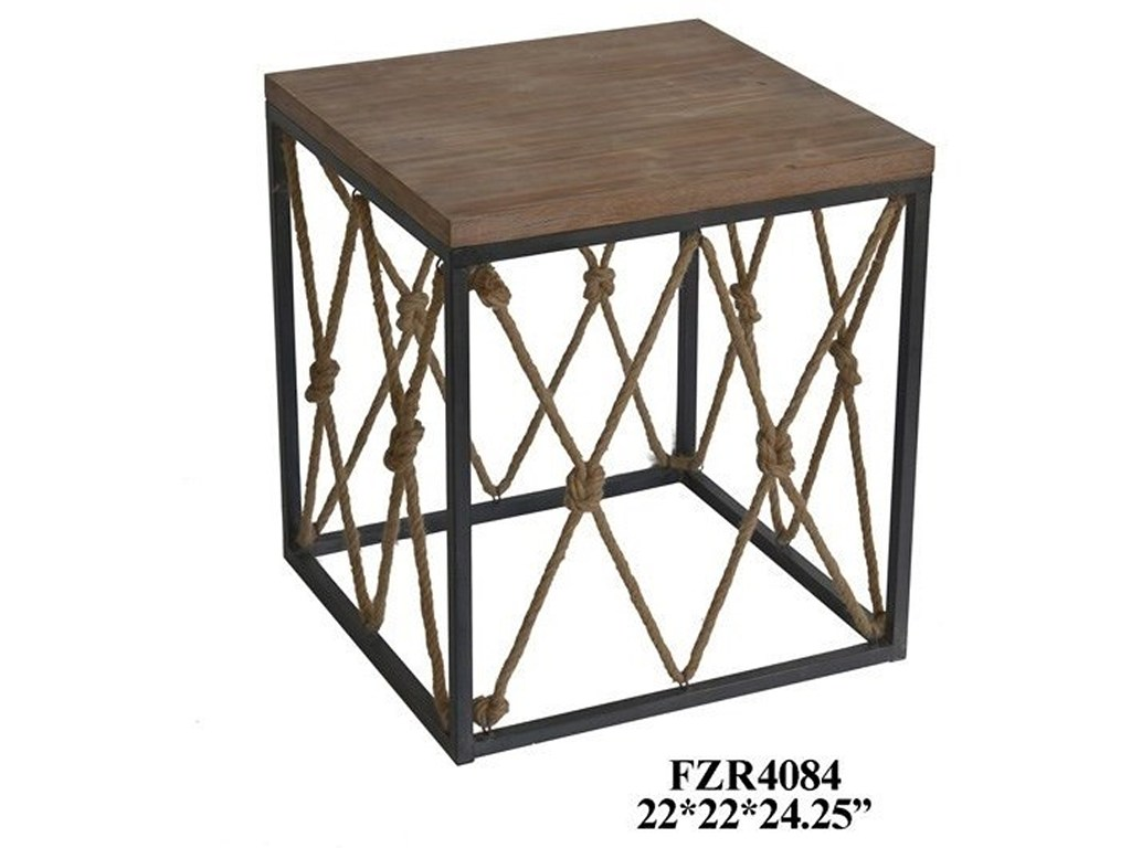 crestview collection accent furniture bar harbor rustic wood and products color bedford jute rope table furnituremetal end extra tall vintage mirror coffee patio clearance
