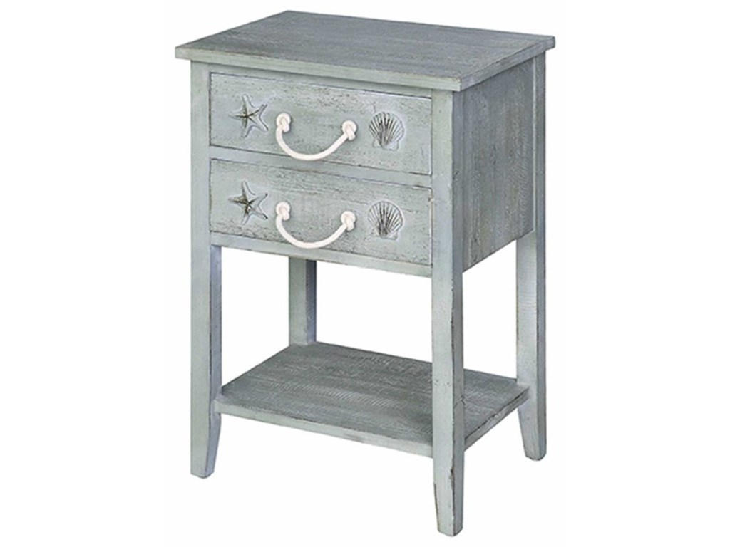crestview collection accent furniture bayside blue shell drawer products color white table with drawers furnitur side home goods ott black bar three green concrete dining and