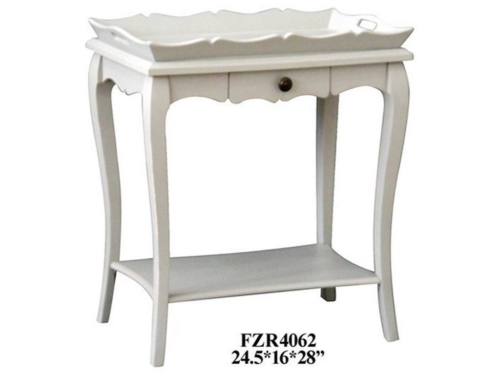 crestview collection accent furniture bella pale grey removable trey products color table furniturepale faux marble end double drop leaf small antique wooden centre designs with