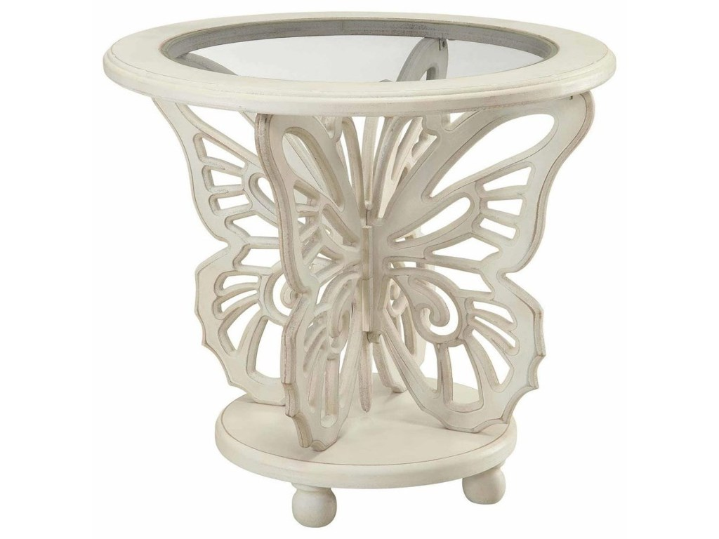 crestview collection accent furniture bethany white butterfly table products color glass furniturebethany target patio tall telephone placemat round end tablecloth bedside lights