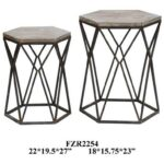 crestview collection accent furniture buena vista rustic metal and products color table furniturebuena wood set tab white chairside side lamps bedroom light shades triangle cool 150x150
