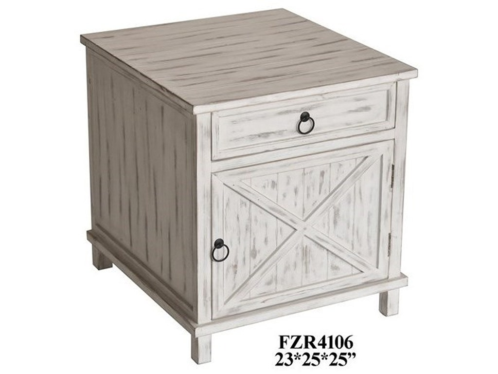 crestview collection accent furniture covington drawer and door products color table with drawers doors furniturewhite wash end nate berkus coffee beige placemats freya round side